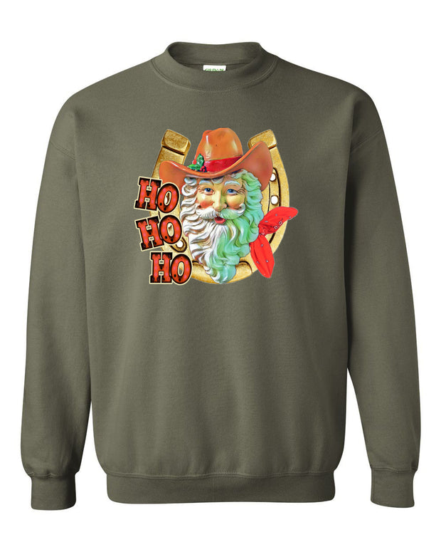 HO HO HO COUNTRY CHRISTMAS - OLIVE PULLOVER*