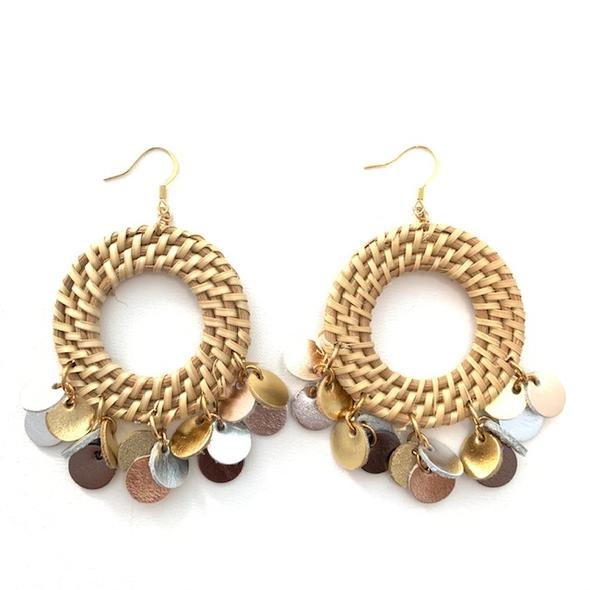 Felicia Natural & Metallic Earrings