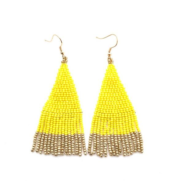 Alex Lemon Yellow Earrings