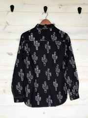 BLACK CACTUS RODEO SHIRT (ADULT)