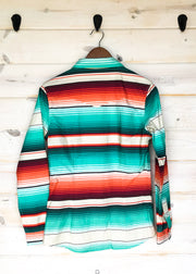 TEAL SERAPE RODEO SHIRT (YOUTH)