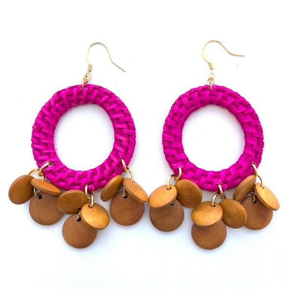 Mariachi Hot Pink Earrings