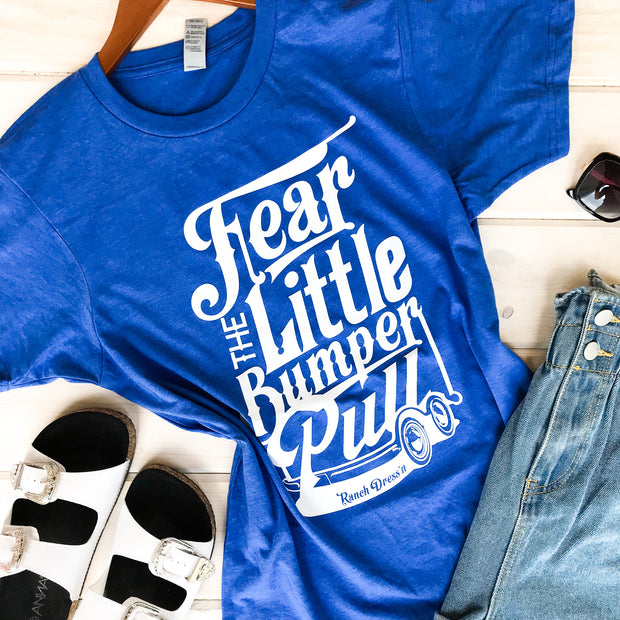 FEAR THE LITTLE BUMPER PULL - BLUE TEE