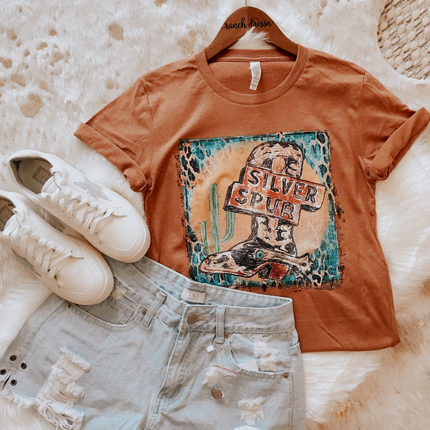 SILVER SPUR - RUST TEE (XS)