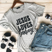 JESUS LOVES COWBOYS TEE