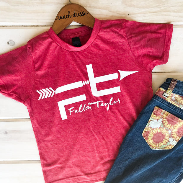 FT LOGO RED YOUTH TEE