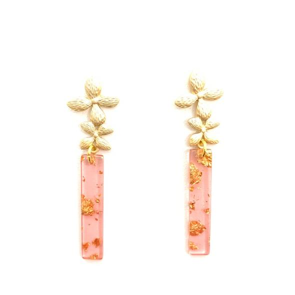 Sunshine and Cheer Earrings Double Bloom in Prosecco
