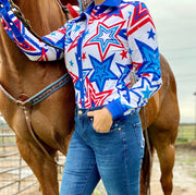 PATRIOTIC PERFORMANCE RODEO SHIRT (ADULT)
