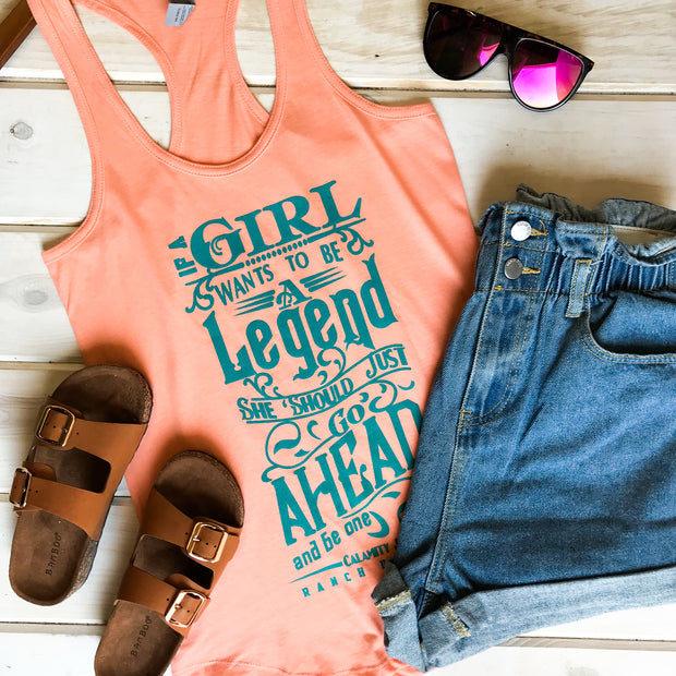 IF A GIRL WANTS TO BE A LEGEND - PEACH TANK