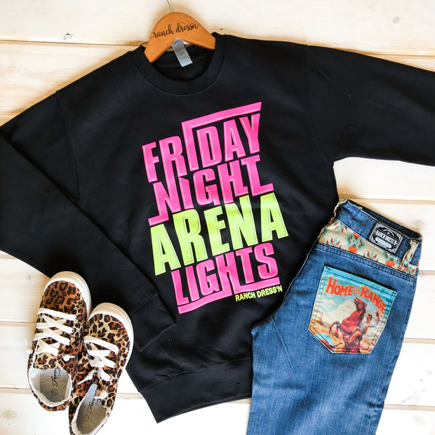FRIDAY NIGHT ARENA LIGHTS - BLACK PULLOVER