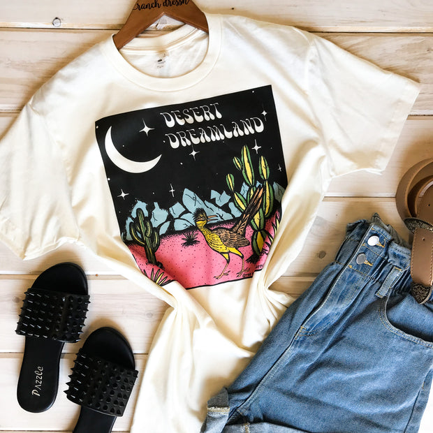 DESERT DREAMLAND - CREAM TEE