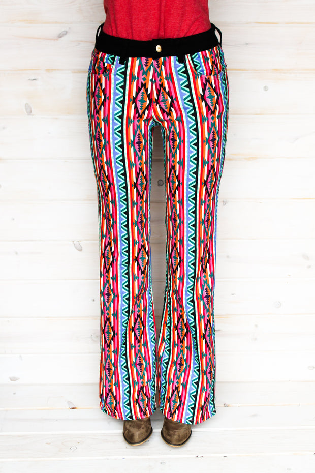 RETRO AZTEC BOOTCUT JEANS (YOUTH)