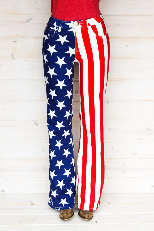 AMERICAN FLAG BOOTCUT JEANS (ADULT)