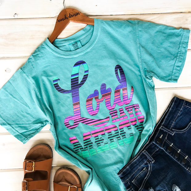 LORD HAVE MERCY - TURQUOISE TEE*