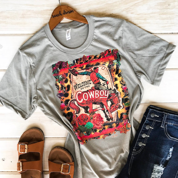 WELCOME TO THE COWBOY RANCH - STONE TEE