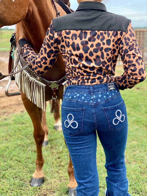 LEOPARD PERFORMANCE RODEO SHIRT (ADULT)