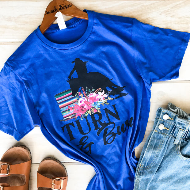 TURN N BURN - ROYAL BLUE TEE*