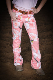 CHERRY BLOSSOM FULL PRINTED BOOTCUT JEANS  (YOUTH)