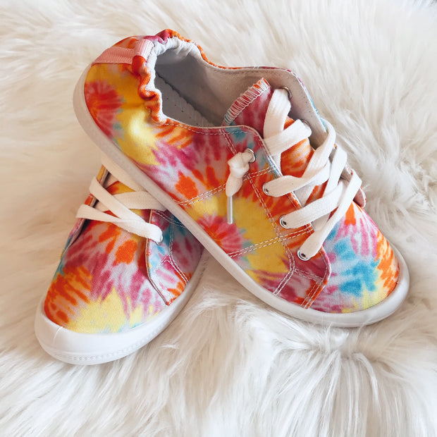 BRIGHT TIE DYE SNEAKERS
