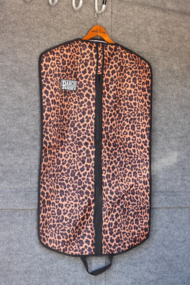 LEOPARD GARMENT BAG