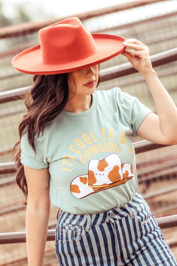 COOL TO BE A COWGIRL - BLUE TEE
