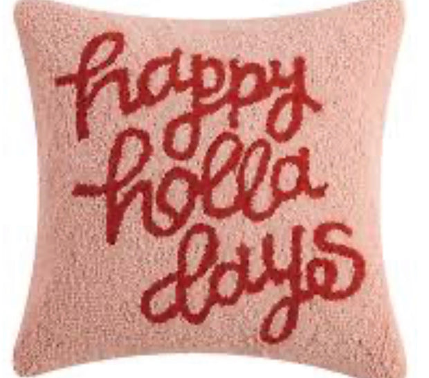 HAPPY HOLLADAYS 16X16 PILLOW