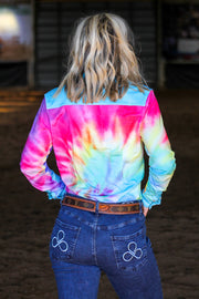 TIE DYE PERFORMANCE RODEO SHIRT (ADULT)