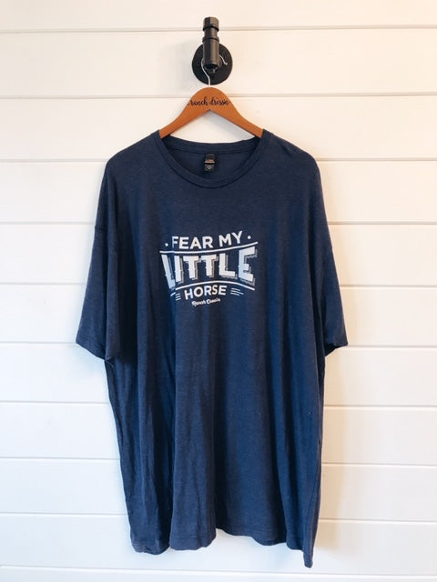 FEAR MY LITTLE HORSE - NAVY TEE