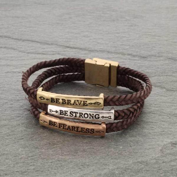 LEATHER INSPIRATION BRACELET