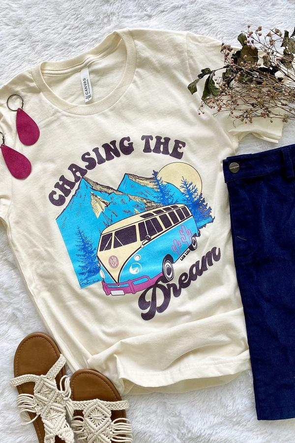CHASING THE DREAM - CREAM TEE