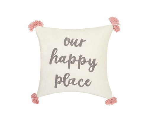 OUR HAPPY PLACE 18X18 PILLOW