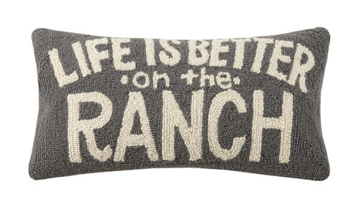 "LIFE IS BETTER ON THE RANCH 12X22"" PILLOW"