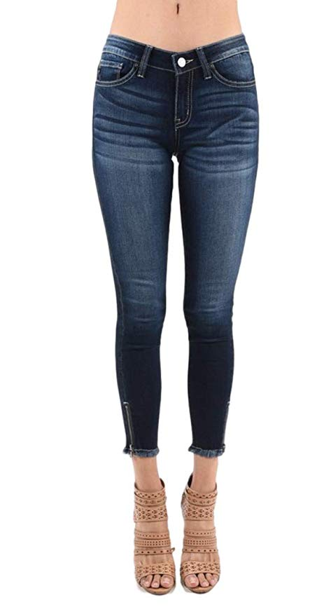 LOW RISE SKINNIES WITH ZIPPER DETAIL