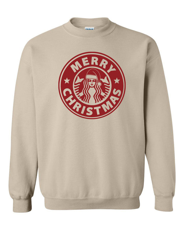 MERRY CHRISTMAS COFFEE - SAND PULLOVER*