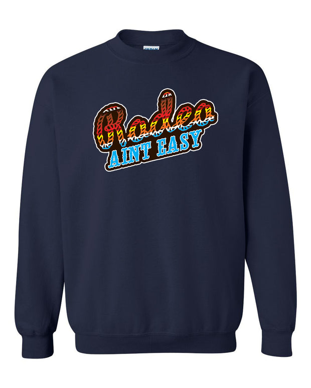 RODEO AIN'T EASY - NAVY  PULLOVER*