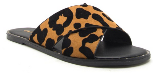 LEOPARD AND STUD SLIDES