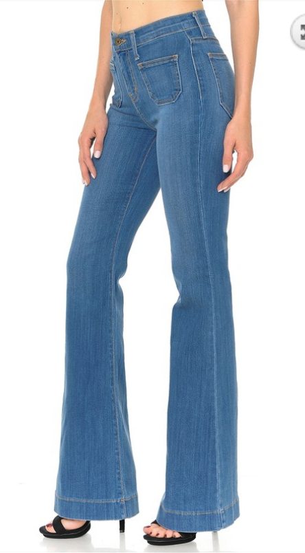 HIGH WAISTED POCKET FLARE JEANS