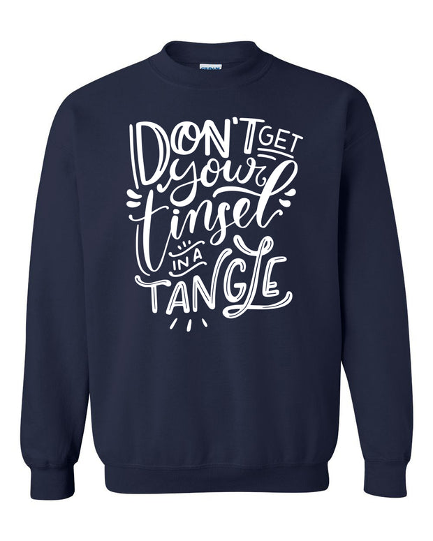 DON'T GET YOUR TINSEL IN A TANGLE - NAVY PULLOVER*
