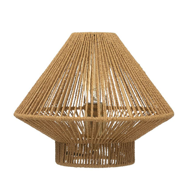 Metal & Woven Paper String Table Lamp