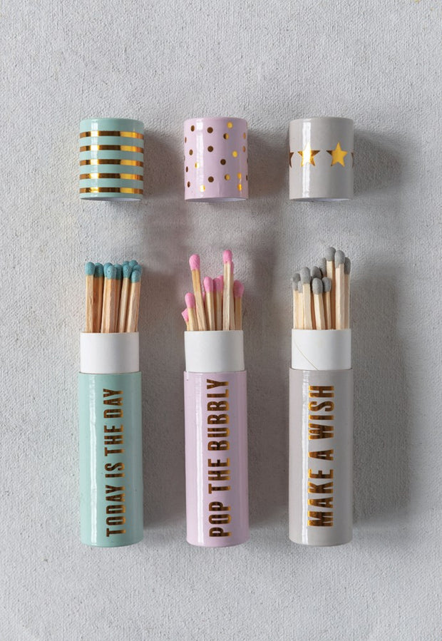 CUTE MATCH TUBES WITH MATCHES