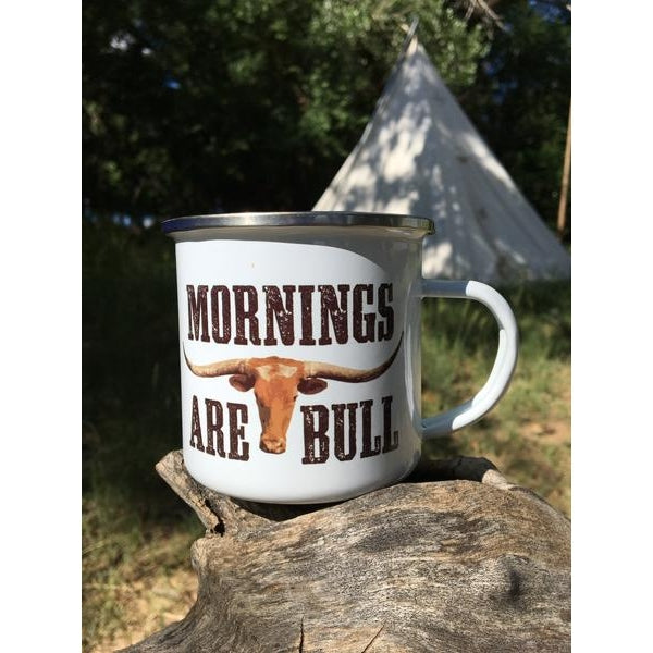 MORNINGS ARE BULL MUG