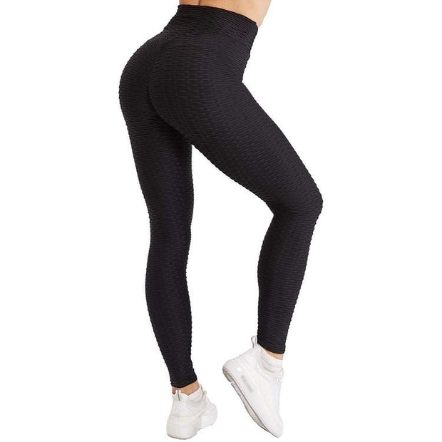 BLACK SCRUNCH BOOTY LIFTING LEGGINGS