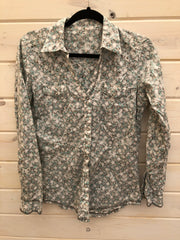 I-5 Floral Western Button Up Shirt Size M