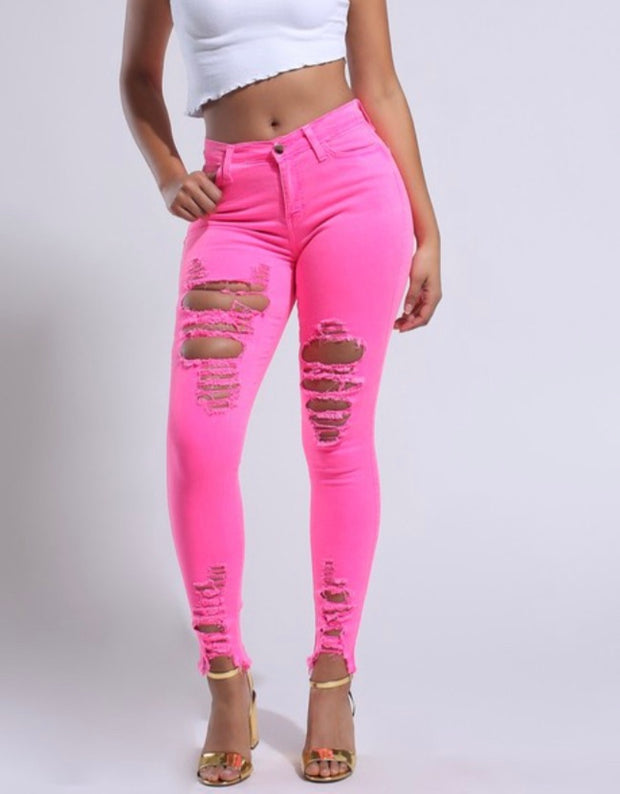 PINK NEON NIGHTS SKINNIES