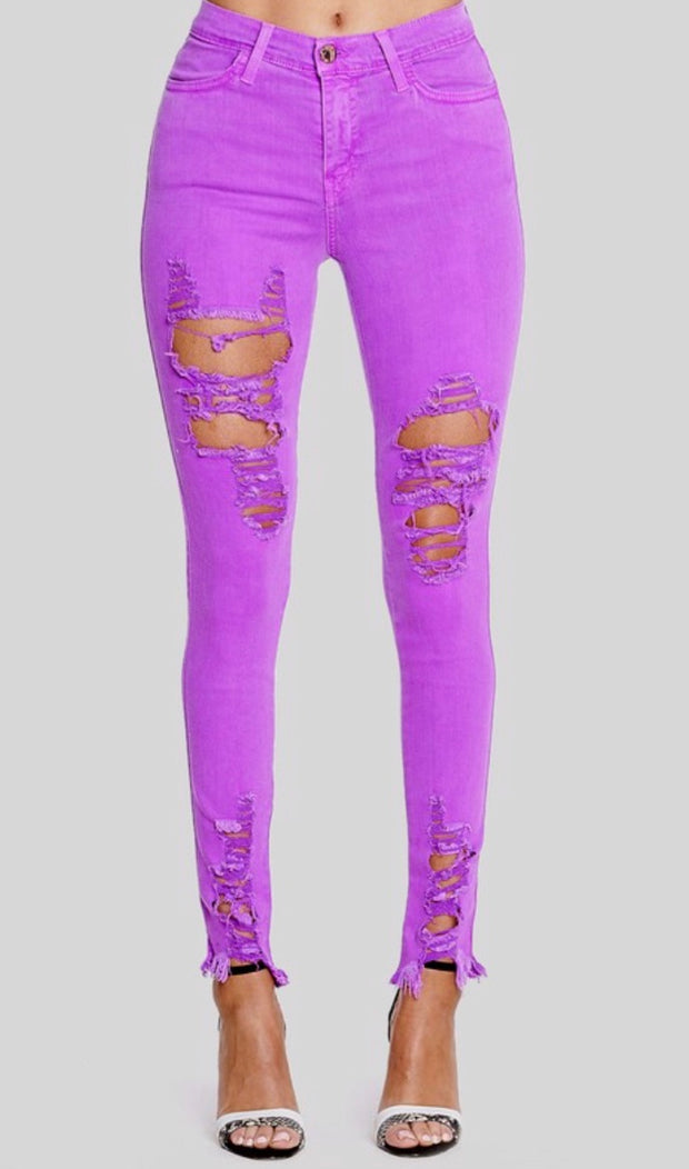 PURPLE NEON NIGHTS SKINNIES
