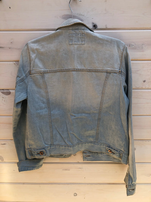 L-5 Jean Jacket with Cactus Patch Size L