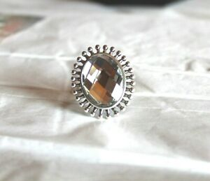 Rock 47 Clear Sunburst Ring