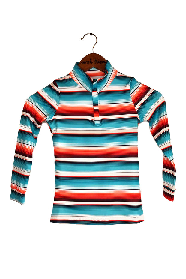 Teal Serape Sun Shirt (Youth)