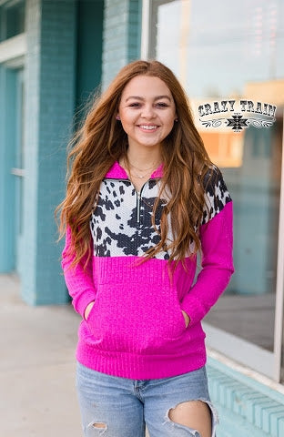 PUNCHY IN PINK / COWHIDE PULLOVER (PLUS)