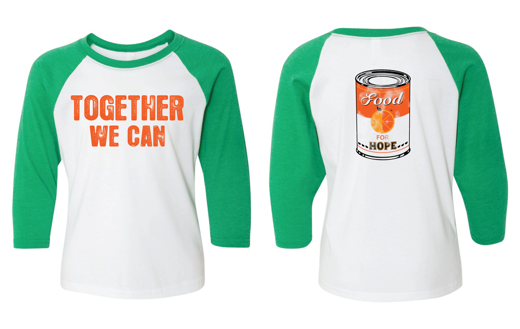 Food for Hope- Youth Baseball tee